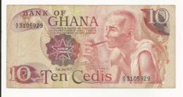 Ghana 10 Cedis 1978 VF - Ghana