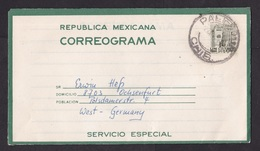 Mexico: Stationery Aerogramme To Germany, Cancel Palenche, Air Letter, Rare Real Use! (traces Of Use) - Mexique