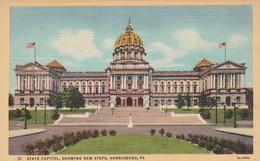 P A - Pennsylvania : HARRISBURG : State Capitol, Showing New Steps,  ( Colorisée - Toilée ) - Harrisburg