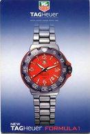 NEW TAGHEUER FORMULA 1. RELOJ WATCH CLOCK HORLOGE. ARGENTINA POSTAL PUBLICIDAD AÑO 2004 NO CIRCULADO - LILHU - Publicidad