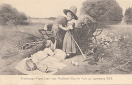 ERZHERZOGE FRANZ JOSEF Und FERDINAND MAX Im Park Zu Laxenburg 1833, Verlag B.K.W.I. - Königshäuser