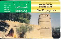 U.A.E.(tamura) - Falai Al Mulla Fort(Dhs 30), Used - United Arab Emirates