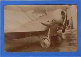 AVIATION - Carte Photo D'un Aviateur Devant Son Appareil - Aviateurs
