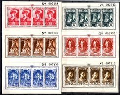 Belgique Six Feuillets Numérotés Vignettes Feldpost Légion Wapen SS Neufs ** MNH. TB. A Saisir! - WW II