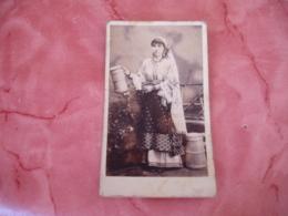 Portrait Femme Roumanie  Cdv Photo Photographie - Personnes Anonymes