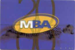 """""""MBA"""" CADETERIA EN MOTO. ARGENTINA POSTAL PUBLICIDAD AÑO 1999 NO CIRCULADO - LILHU - Publicidad"""