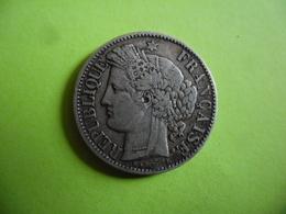 FRANCE @ 2 Francs CERES De 1870 A @ Argent 83,5 % 10 Gr - I. 2 Francs