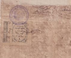 F-EX16297 ESPAÑA SPAIN 1895 REVENUE NOTARIOS ESCRIBANOS.BURGOS 3 Ptas. SERIE A. TIPO II + SELLO POLIZAS. - Fiscaux