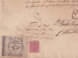 F-EX16299 ESPAÑA SPAIN 1888 REVENUE NOTARIOS ESCRIBANOS NOTARIES LAWYER . BURGOS 3 Ptas. SERIE C. - Fiscaux