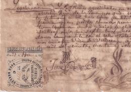 F-EX16300 ESPAÑA SPAIN 1868 REVENUE NOTARIOS ESCRIBANOS NOTARIES LAWYER . BURGOS 3 Ptas. SERIE C. - Revenue Stamps
