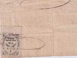 F-EX16301 ESPAÑA SPAIN 1868 REVENUE NOTARIOS ESCRIBANOS NOTARIES LAWYER . BURGOS 3 Ptas. SERIE D. - Revenue Stamps