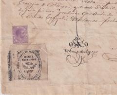 F-EX16302 ESPAÑA SPAIN 1884 REVENUE NOTARIOS ESCRIBANOS NOTARIES LAWYER . BURGOS 3 Ptas. SERIE E. - Revenue Stamps