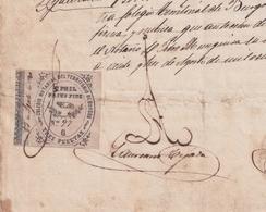 F-EX16304 ESPAÑA SPAIN 1880 REVENUE NOTARIOS ESCRIBANOS NOTARIES LAWYER . BURGOS 3 Ptas. SERIE G. - Revenue Stamps