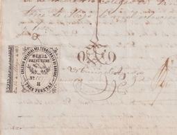 F-EX16305 ESPAÑA SPAIN 1873 REVENUE NOTARIOS ESCRIBANOS NOTARIES LAWYER . BURGOS 3 Ptas. SERIE H. - Revenue Stamps
