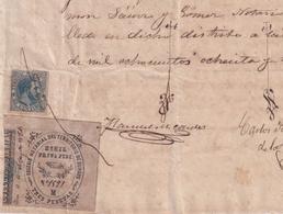 F-EX16312 ESPAÑA SPAIN 1886 REVENUE NOTARIOS ESCRIBANOS NOTARIES LAWYER . BURGOS 3 Ptas. SERIE M. - Postzegels