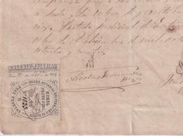F-EX16313 ESPAÑA SPAIN 1874 REVENUE NOTARIOS ESCRIBANOS NOTARIES LAWYER . BURGOS 3 Ptas. SERIE N. - Sellos