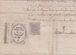 F-EX16315 ESPAÑA SPAIN 1883 REVENUE NOTARIOS ESCRIBANOS NOTARIES LAWYER . BURGOS 3 Ptas. SERIE P. - Sellos