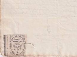 F-EX16316 ESPAÑA SPAIN 1875 REVENUE NOTARIOS ESCRIBANOS NOTARIES LAWYER . BURGOS 3 Ptas. SERIE Q - Sellos