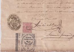 F-EX16322 ESPAÑA SPAIN 1892 REVENUE NOTARIOS ESCRIBANOS NOTARIES LAWYER . BURGOS 3 Ptas. SERIE U. - Fiscale Zegels