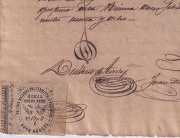 F-EX16326 ESPAÑA SPAIN 1869 REVENUE NOTARIOS ESCRIBANOS NOTARIES LAWYER . BURGOS 12 Rs. SERIE X. TIPO II. - Revenue Stamps