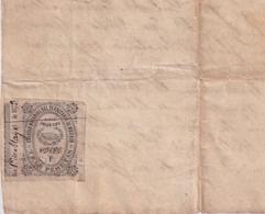 F-EX16331 ESPAÑA SPAIN 1873 REVENUE NOTARIOS ESCRIBANOS NOTARIES LAWYER . MADRID 3 Ptas. SERIE F. - Revenue Stamps