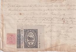 F-EX16339 ESPAÑA SPAIN 1882 REVENUE NOTARIOS ESCRIBANOS NOTARIES LAWYER . MADRID 3 Ptas. SERIE M. - Fiscale Zegels