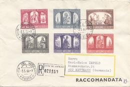 VATICAN 1966 - 6 Fach Satzfrankierung Auf RECO-Brief Gel.v. Vatican > Mettmann - Vatikan