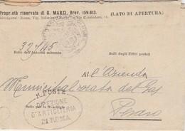 Roma. 1919. Annullo Ovale Di Franchigia R.POSTE DIREZIONE D'ARTIGLIERA DI ROMA - Militari