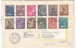 VATICAN 1966 - 12 Fach Satzfrankierung Auf RECO-Brief Gel.v. Vatican > Mettmann - Vatikan