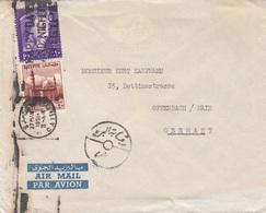 EGYPT 1950 - 2 Fach Frankierung Auf Firmenbrief Gel.v. Caire > Offenbach - Ägypten