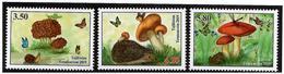 Tajikistan.2019 Mushrooms(Butterflies,Hedgehog,Frog).3v:3.50,4.20,5.80 - Tagikistan