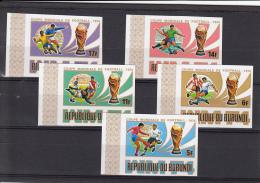 Burundi Nº 612sd Al 616sd SIN DENTAR - Fußball-Weltmeisterschaft
