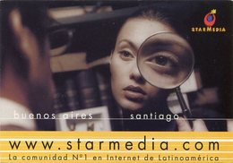 STARMEDIA, COMUNIDAD N° 1 EN INTERNET DE LATINOAMERICA. ARGENTINA POSTAL PUBLICIDAD CIRCA 2000's NO CIRCULADO - LILHU - Publicidad