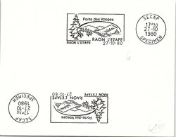 SPECIMEN SECAP - RAON L'ETAPE PORTE DES VOSGES - 27.10.1980  /36- 2 - Marcofilia (sobres)