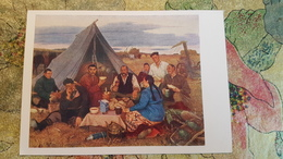"""MONGOLIA - """"After The Work"""" By Ogon / 1959 - Drinking Tea - Mongolei"""
