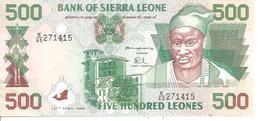 Siera Leone  P-23  500 Leones  1995  UNC - Sierra Leone
