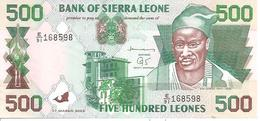 Siera Leone  P-23  500 Leones  2003  UNC - Sierra Leone