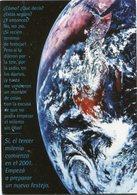 TERCER MILENIO, FOTO DEL PLANETA TIERRA, LA TERRE, EARTH. ARGENTINA POSTAL PUBLICIDAD AÑO 2000 NO CIRCULADO - LILHU - Publicidad