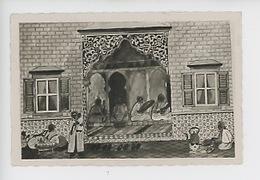 Maroc : Vue De Tanger - Salon Thé Femme Bébé Enfant Cuisine Musiciens (dessin Illustrateur) - Tanger