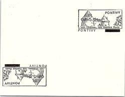 SPECIMEN  - PONTIVY - SON CHATEAU SES VIEILLES RUES  /48 - 2 - Mechanische Stempels (reclame)
