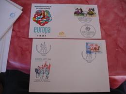 Lot 34 Europa Fdc Enveloppe 1 Er Jour 1981 - Autres - Europe