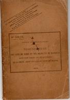 Postes Et Télégraphes - Nomenclature Des Rues De Paris Et Des Secteurs De Banlieue - 1918 - Philatelie Und Postgeschichte
