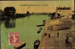 Cp Saint Florent Le Vieil Maine Et Loire, Le Quai - Autres Communes