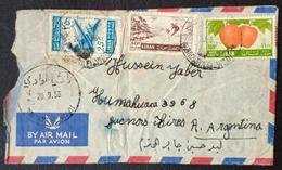 BL Lebanon 1956 Rare Cancel On Airmail Cover, RACHAYA EL WADI Circular Typology (from Salha Ghazali, Bkifa) To Argentina - Lebanon
