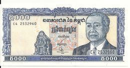 CAMBODGE 5000 RIELS 1998 UNC P 46 B - Cambodge