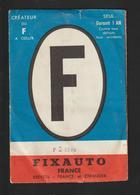 Autocollant Du F Mis à L'arrière De La Voiture - Complet, Neuf, Avec Sa Pochette. - FIXAUTO  - 8 Scannes - Vieux Papiers