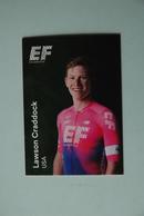 CYCLISME: CYCLISTE : EQUIPE EF EDUCATION 2019 Format 9 X 6.3 : LAWSON CRADDOCK - Ciclismo