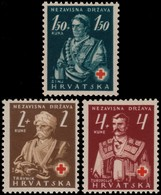 ~~~ Croatia 1941 - Red Cross -  Mi. 66/68 ** MNH OG ~~~ - Kroatië