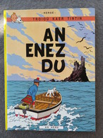 TINTIN En Breton : An Enez Du / L'île Noire Ed An Here 1988 - Boeken, Tijdschriften, Stripverhalen