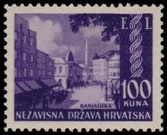 ~~~ Croatia 1942 - Banjaluka F.I.  -  Mi. 81 ** MNH OG ~~~ - Kroatië